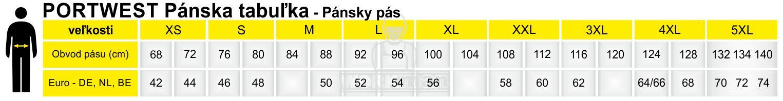 PORTWEST Pánska tabuľka - Pánsky pás
