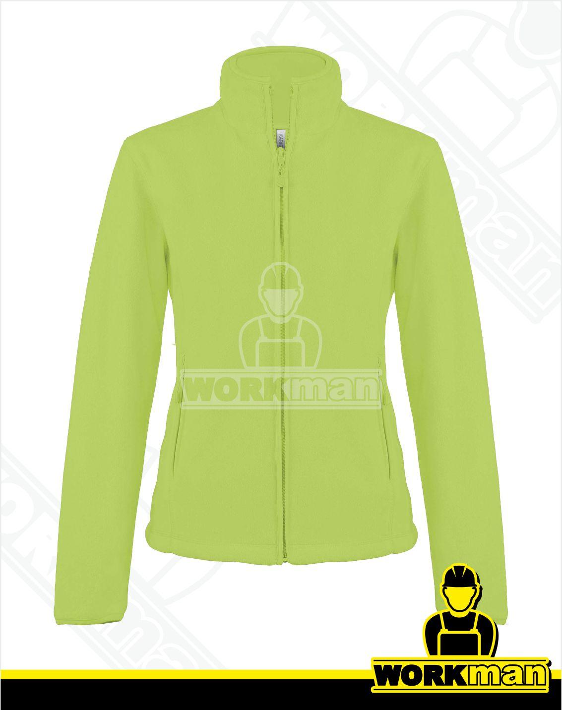 4cd1c5071d40 Dámská fleecová mikina MAUREEN Kariban limetková Pracovné odevy