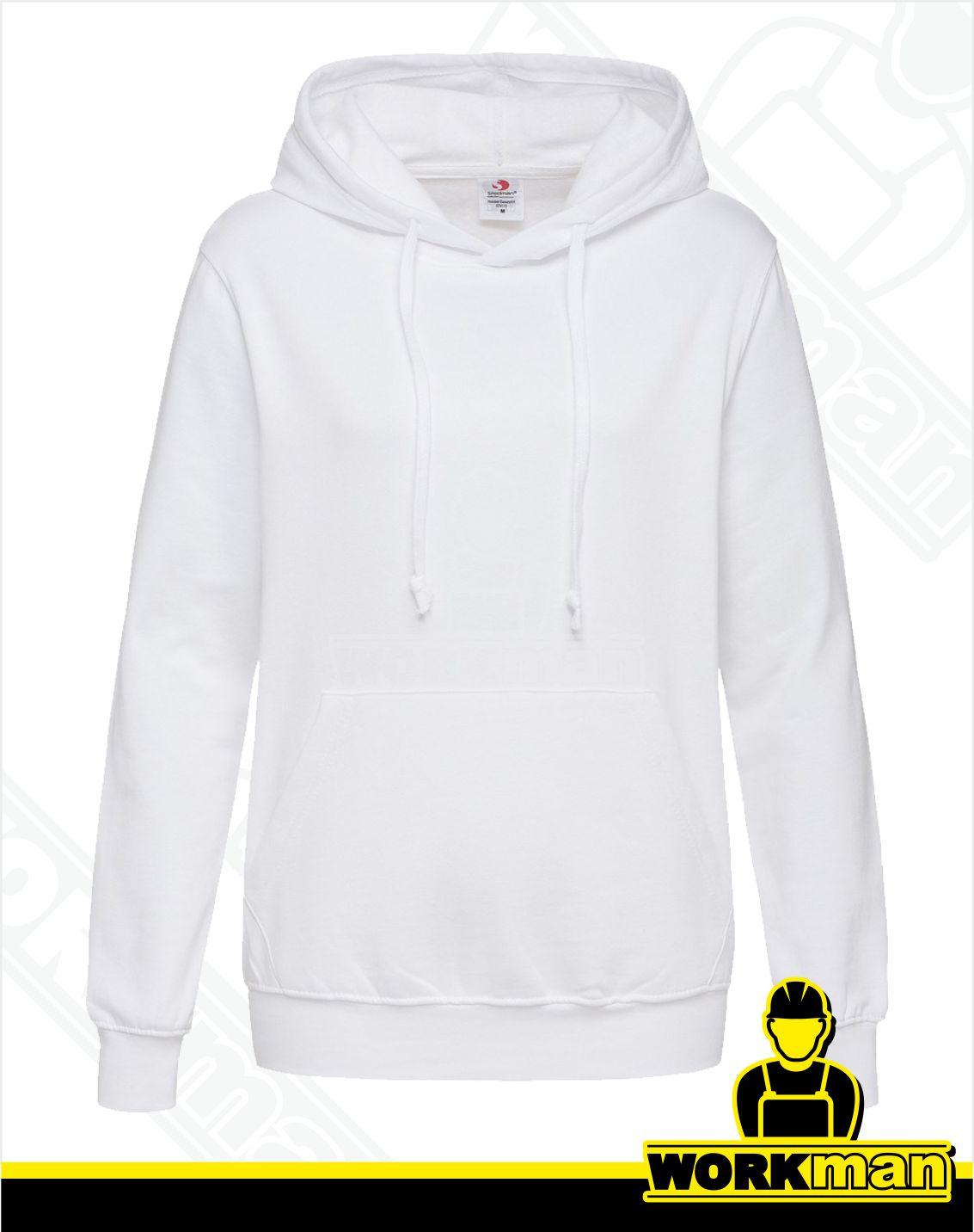 10c23fd9e Dámska mikina s kapucňou ST4110 Stedman biela Pracovné odevy WORKMAN