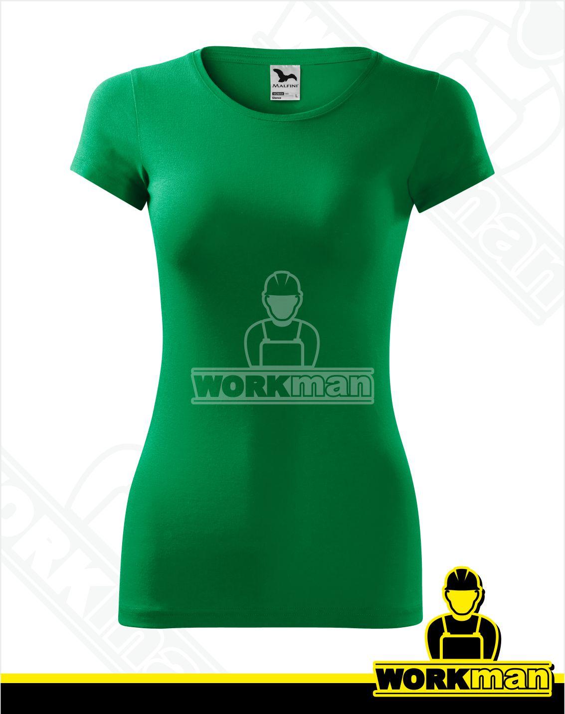2b4d3efde3e12 Dámske tričko GLANCE Malfini trávová zelená Pracovné odevy WORKMAN
