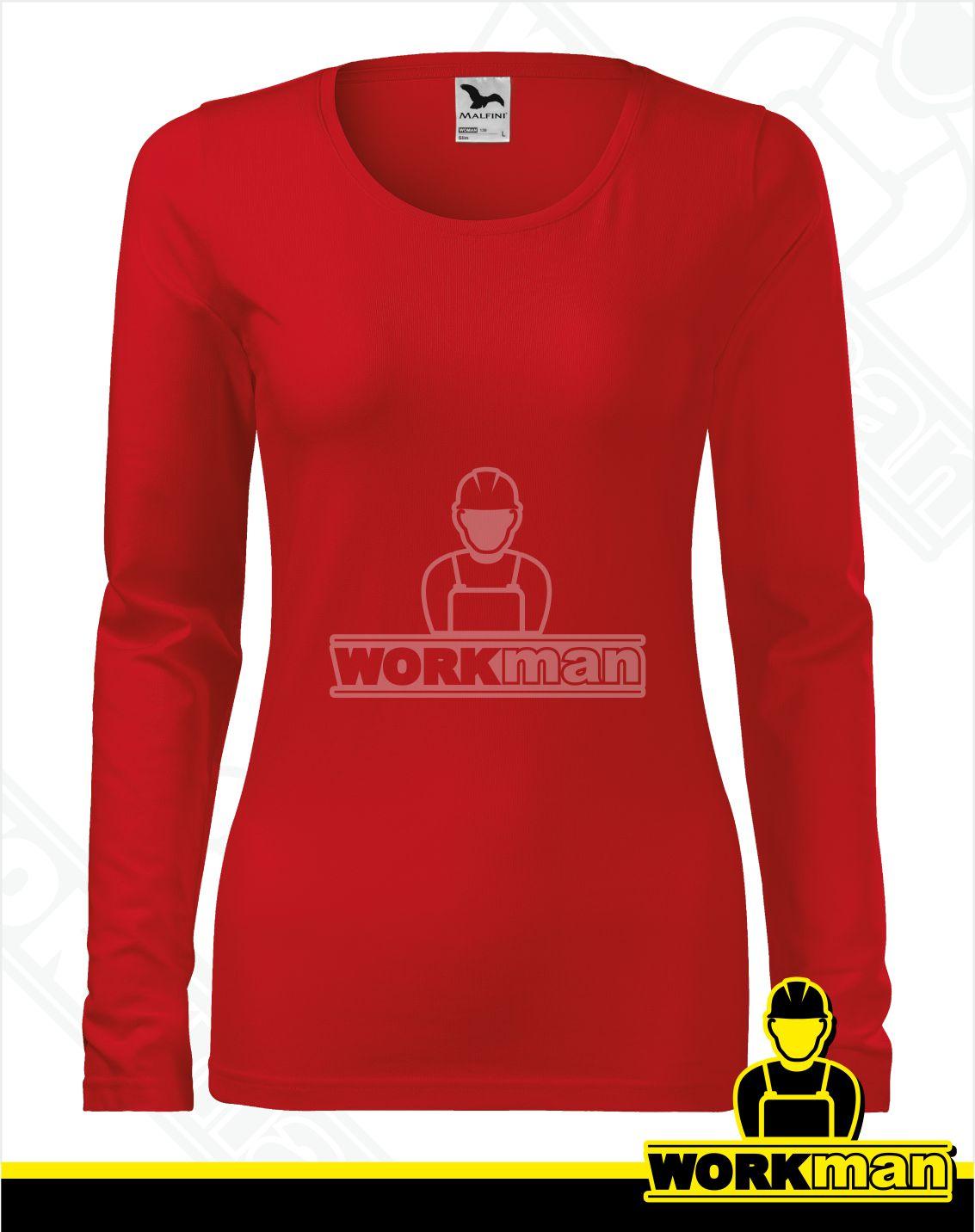 ffae32b64930 Dámske tričko SLIM Malfini červená Pracovné odevy WORKMAN