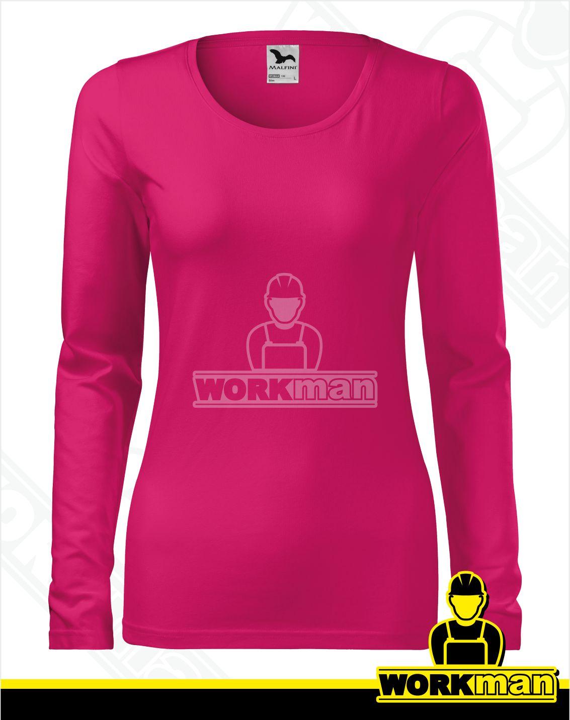 b16a3355accf Dámske tričko SLIM Malfini malinová Pracovné odevy WORKMAN