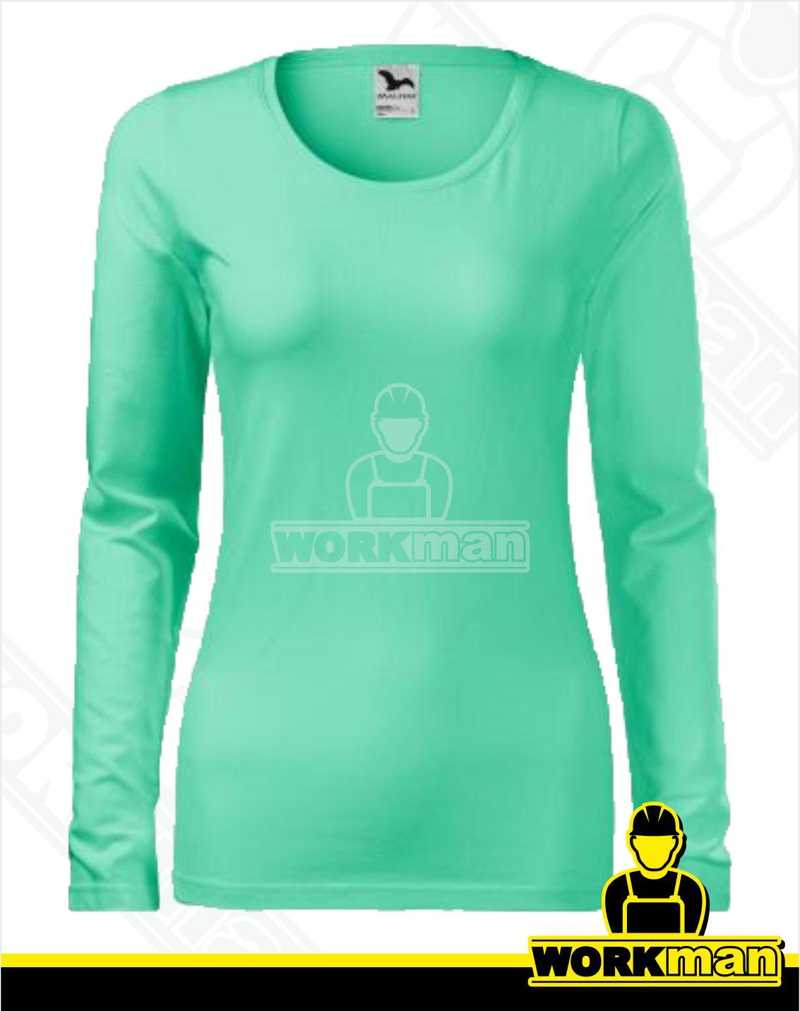 473560d9d127 Dámske tričko SLIM Malfini mätová Pracovné odevy WORKMAN