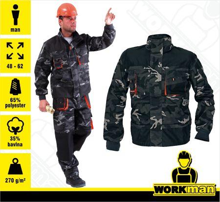 0502b29886c5 Montérková bunda EMERTON CAMOUFLAGE Červa Pracovné odevy Workman