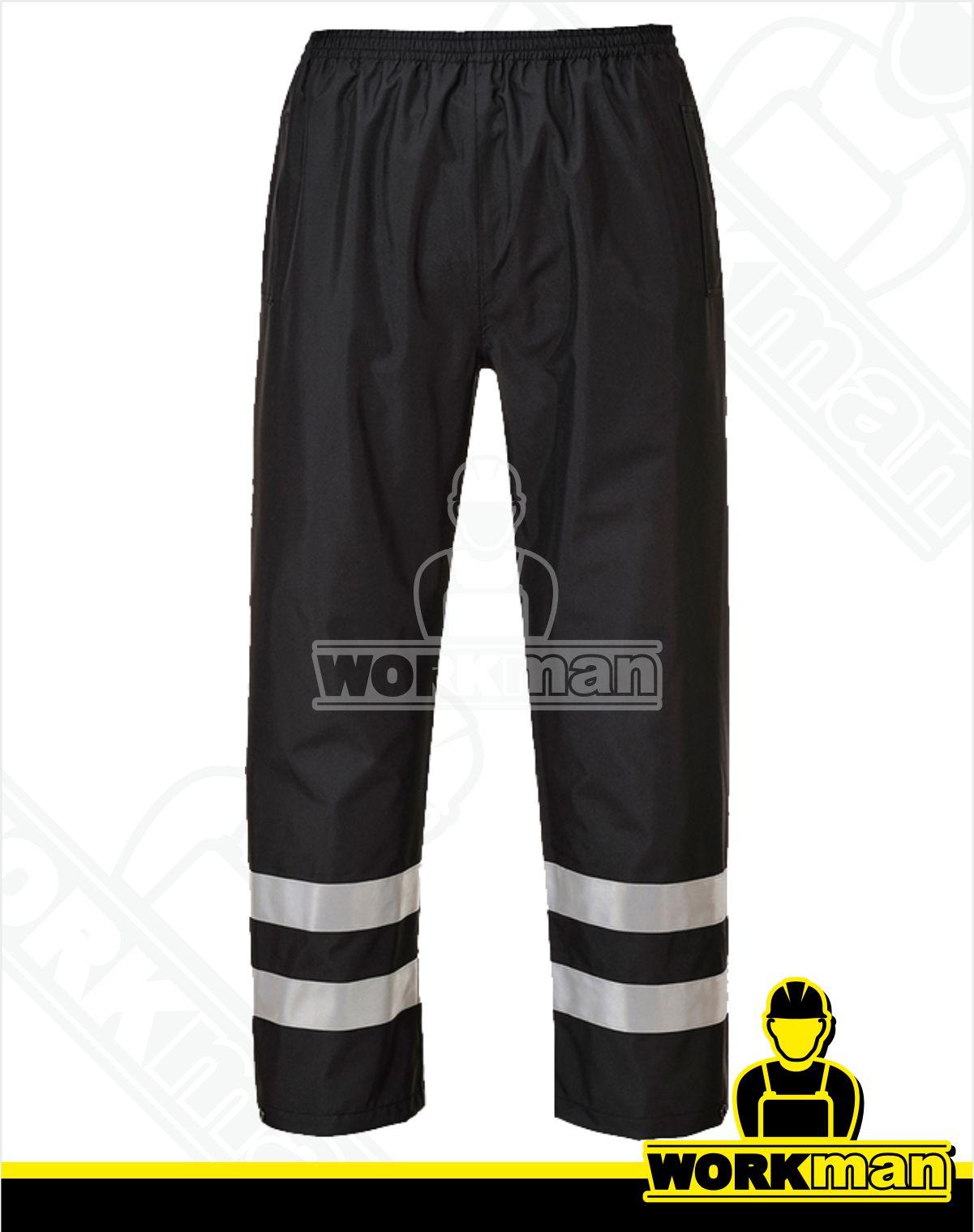 7e171b8e5d65 Nepremokavé reflexné nohavice IONA S481 Portwest čierna WORKMAN