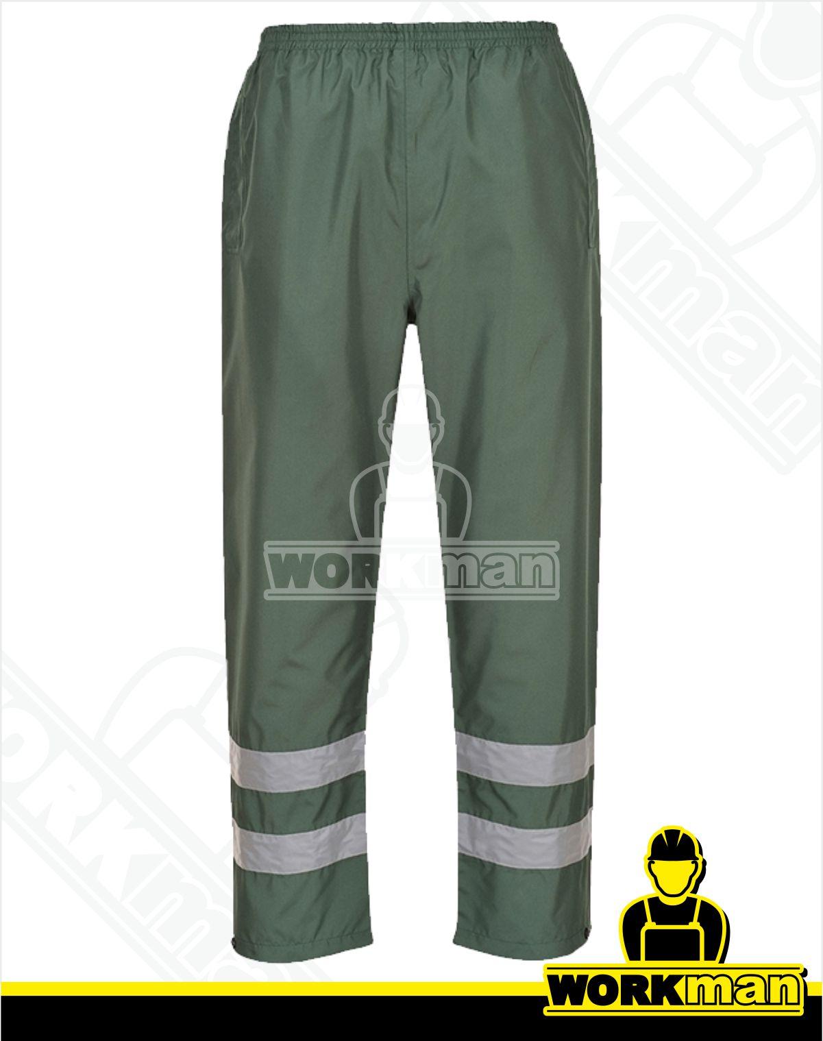 fd44269ca24e Nepremokavé reflexné nohavice IONA S481 Portwest zelená WORKMAN