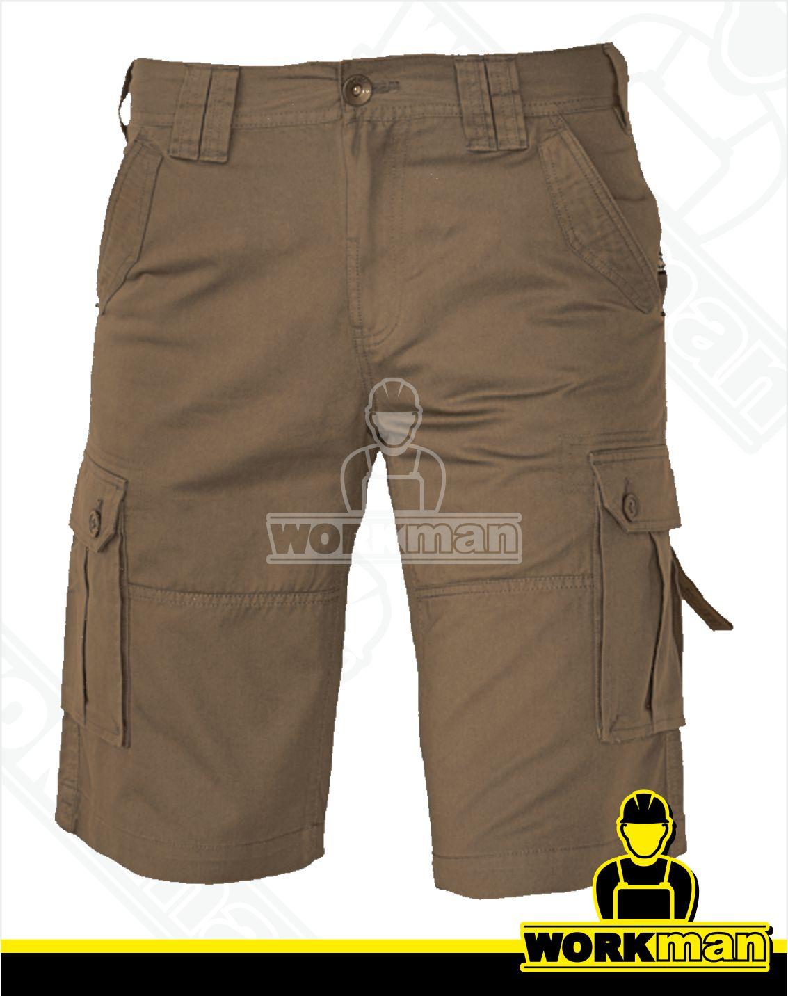 4371d0c2bbc1 Outdoorové šortky CHENA Crv Červa olivová Pracovné odevy WORKMAN