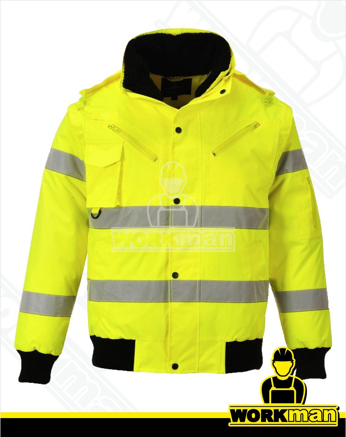 970f76564e51 Reflexná bunda CLASSIC BOMBER 3v1 C467 Portwest žltá Pracovné odevy