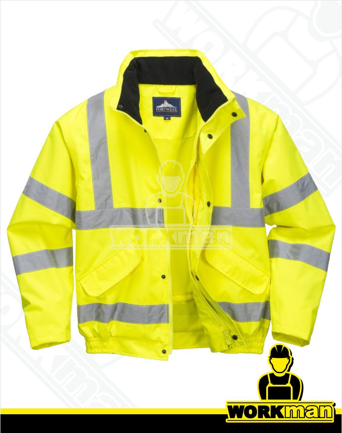 99d8f0e4f4c1 Reflexná bunda Hi-vis BOMBER RT62 Portwest žltá Pracovné odevy WORKMAN
