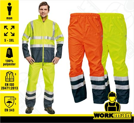 598e77585caa Reflexné nepremokavé nohavice EPPING Červa Pracovné odevy WORKMAN