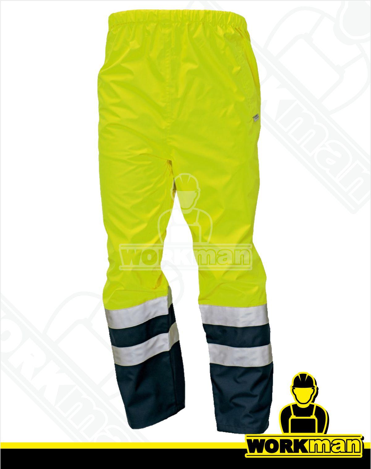f7e16b6537e5 Reflexné nepremokavé nohavice EPPING Červa žltá Pracovné odevy WORKMAN