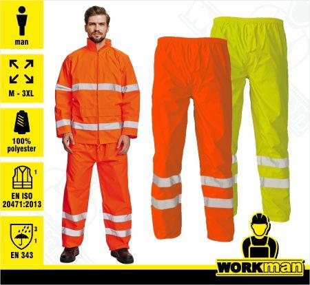 85846a1d8e4b Reflexné nepremokavé nohavice GORDON Červa Pracovné odevy WORKMAN