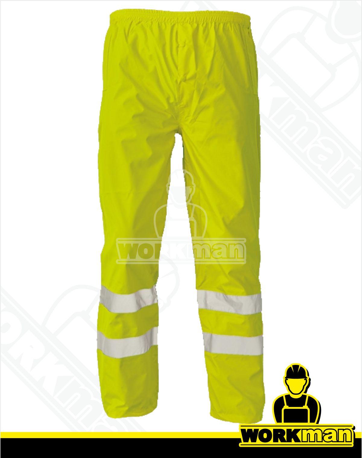 9792c47b1de9 Reflexné nepremokavé nohavice GORDON Červa žltá Pracovné odevy WORKMAN