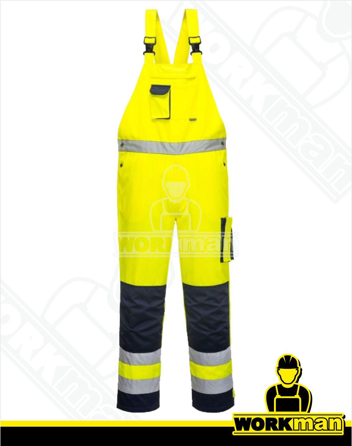 73947538c0cf Reflexné nohavice Hi-Vis TEXO TX52 s náprsenkou Portwest žltá