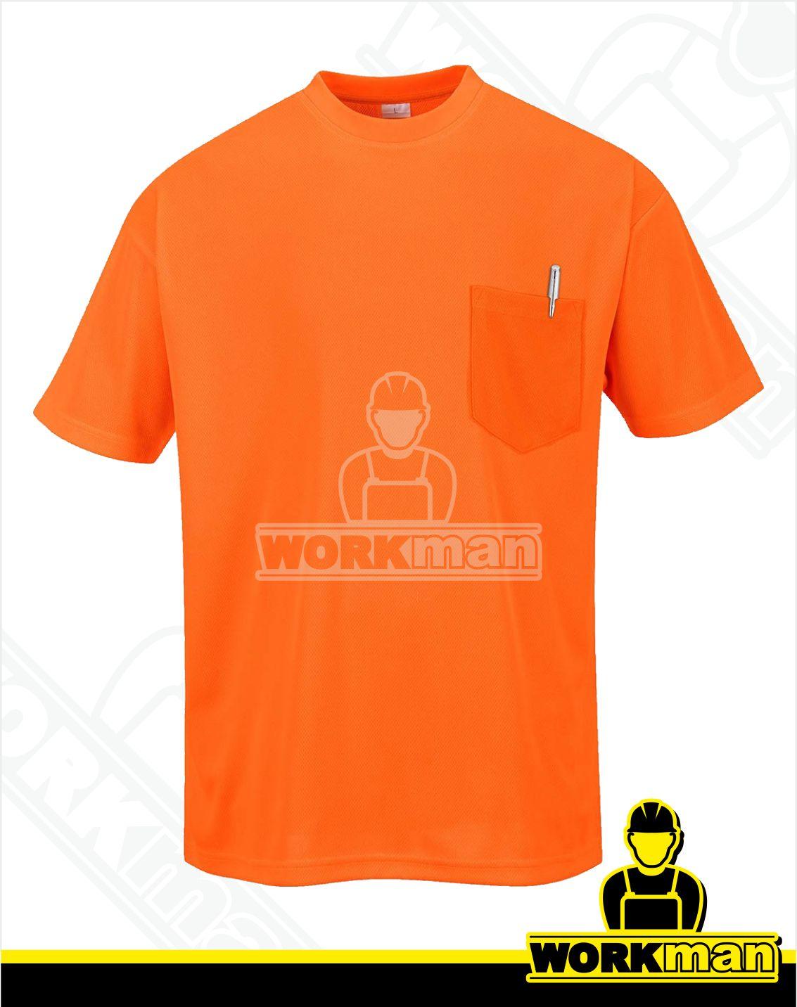 d43e387e8fce9 Reflexné tričko s vreckom DAY-VIS S578 oranžová Pracovné odevy