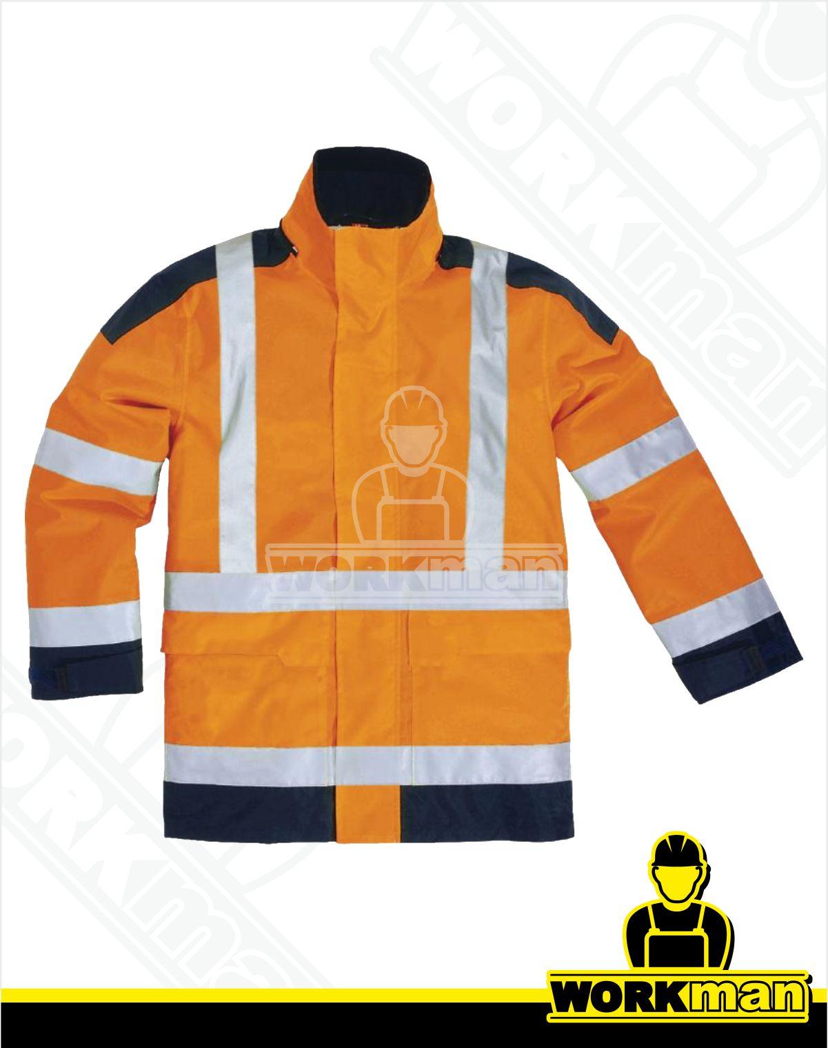 Zateplená reflexná bunda EASYVIEW Deltaplus oranžová Pracovné odevy ba5c94f8cb6