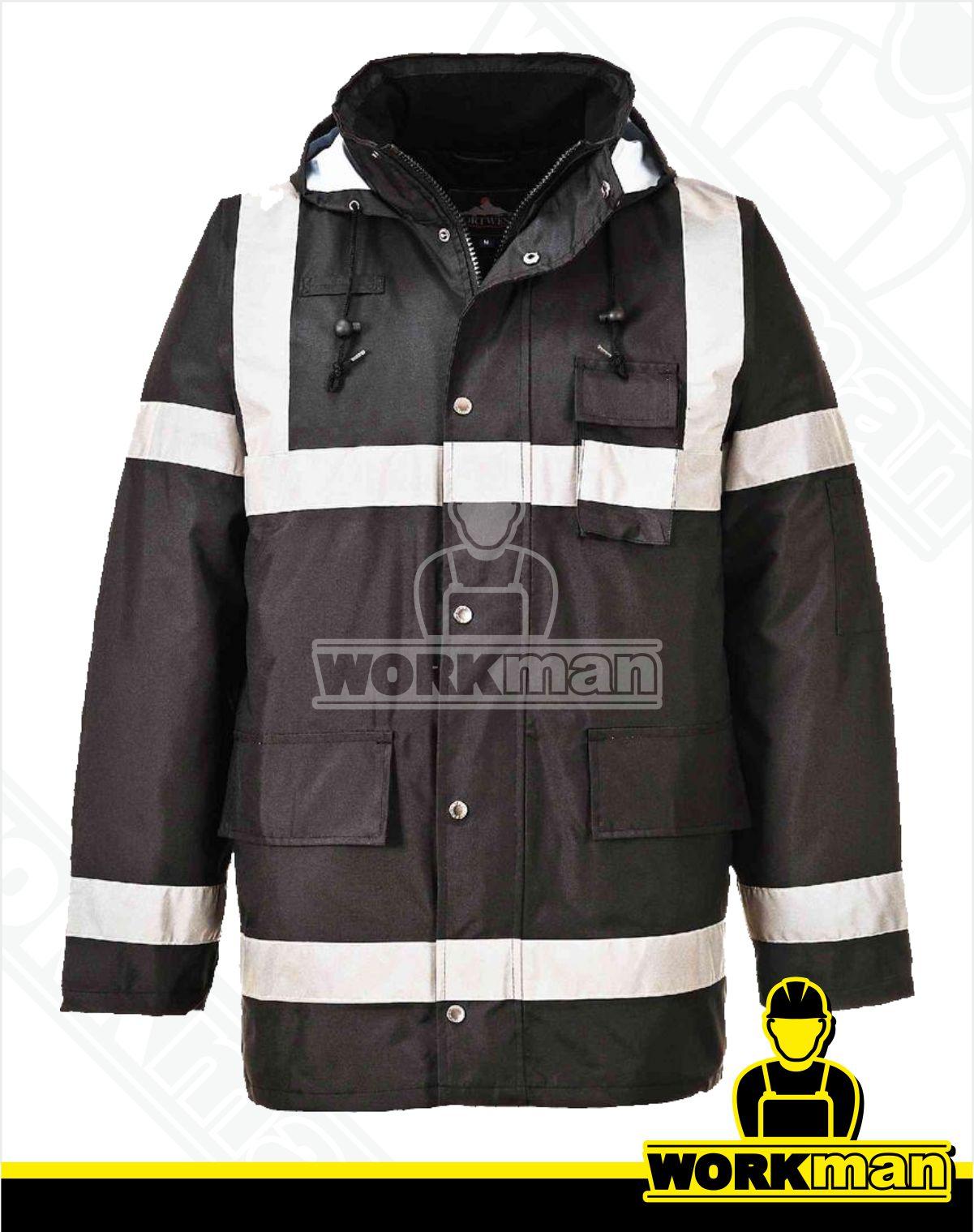 9b4ef456c371 Zateplená reflexná bunda IONA LITE S433 Portwest čierna Pracovné odevy