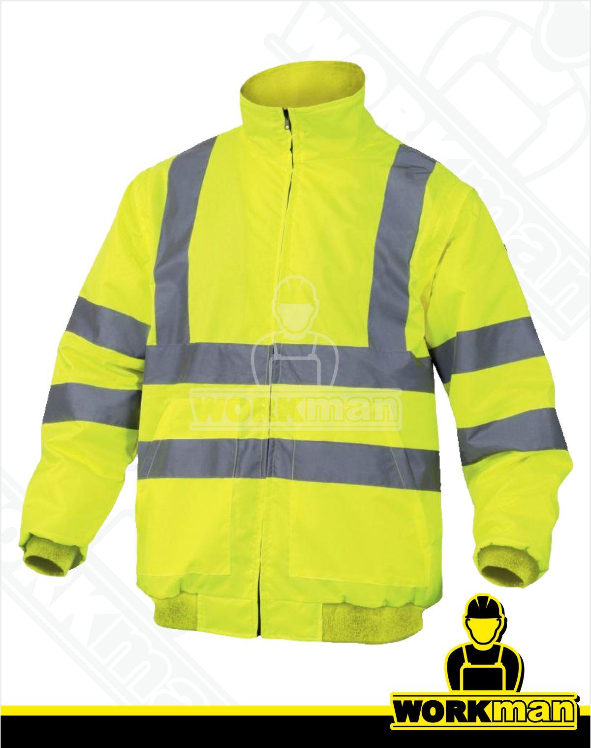ecbc2af7d301 Zateplená reflexná bunda RENO HV 2v1 Deltaplus žltá Pracovné odevy