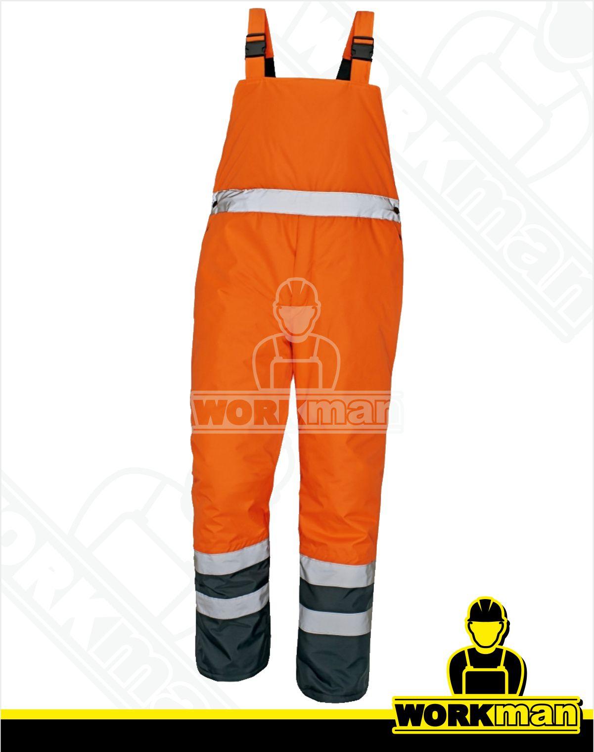 Zateplené reflexné nohavice PADSTOW HV Červa oranžová Pracovné odevy 858b44a0f18