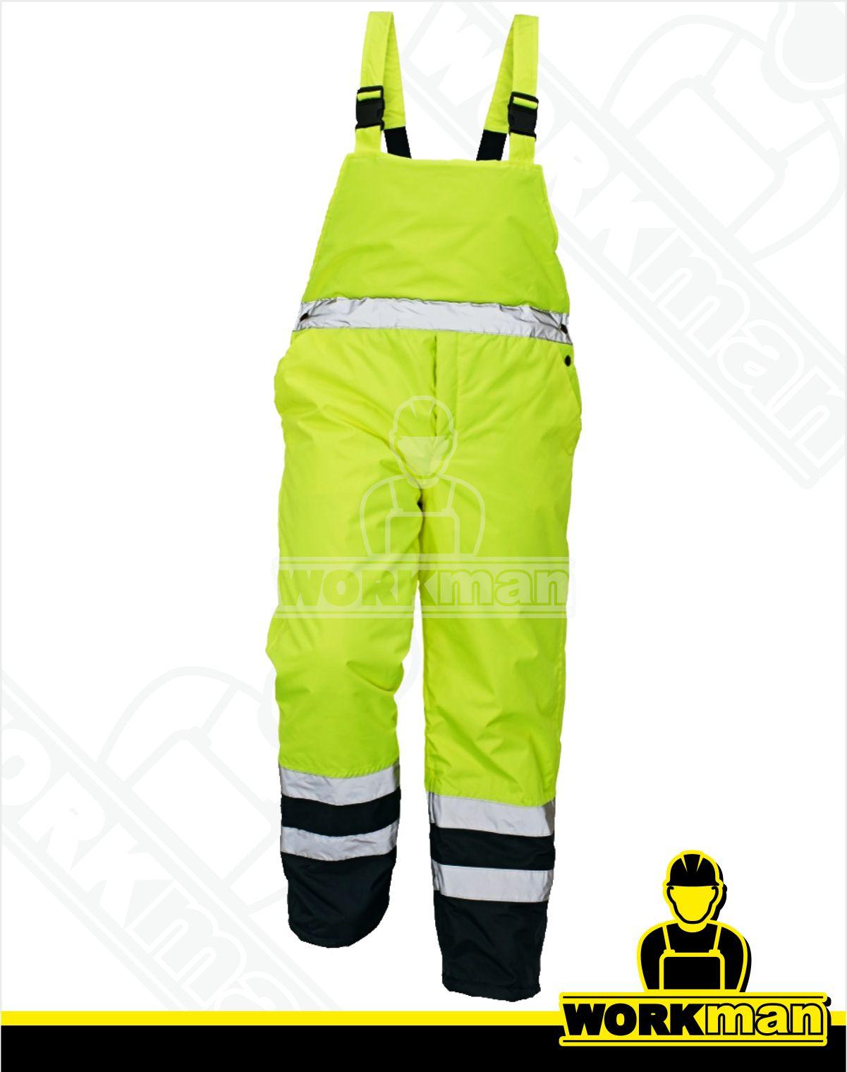 Zateplené reflexné nohavice PADSTOW HV Červa žltá Pracovné odevy c583bf477ca