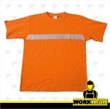 Bavlnené reflexné tričko XAVER TEESTA oranžové Červa