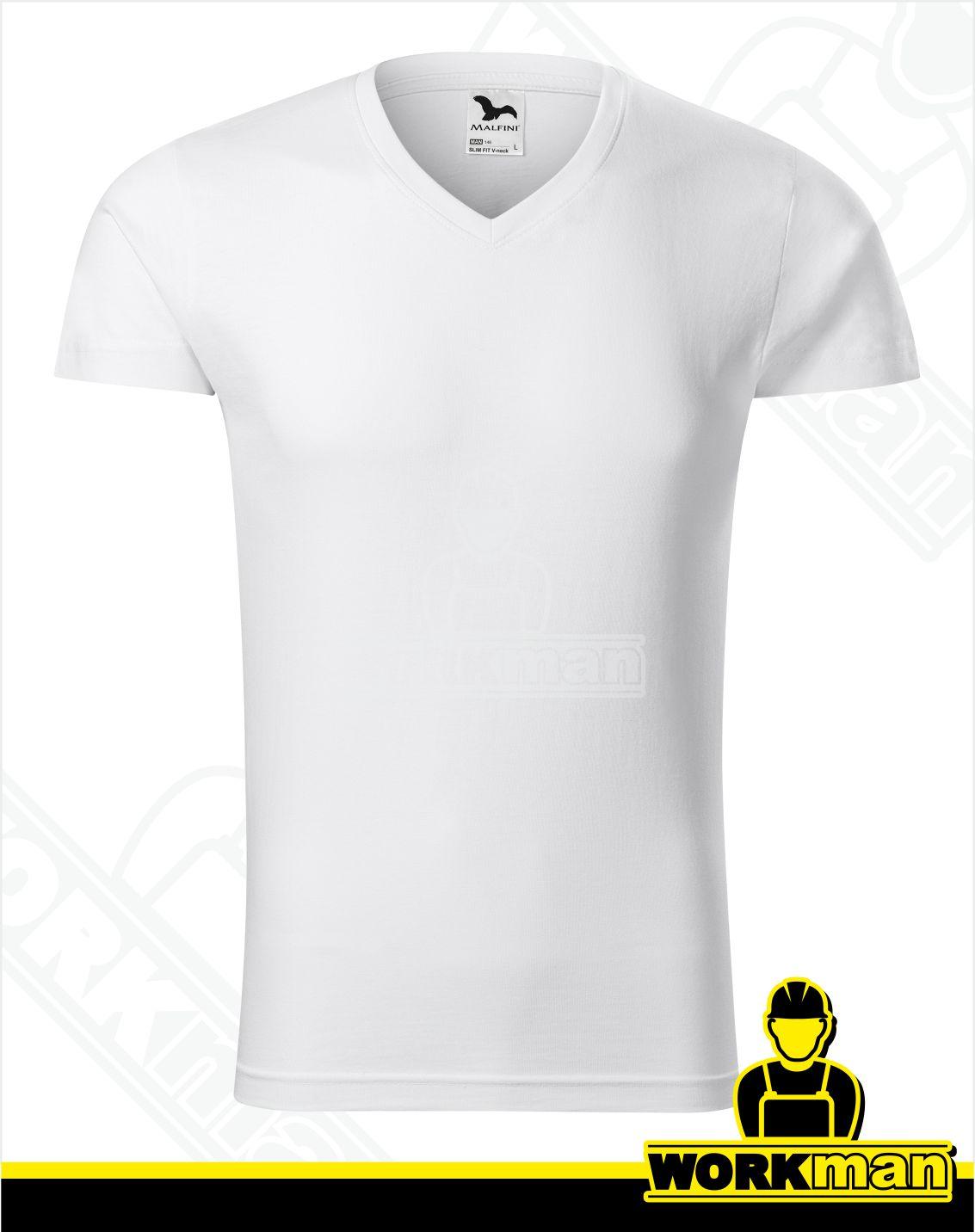 c66fe94e8ba9 Pánske tričko SLIM FIT V-NECK Malfini Pracovné odevy WORKMAN
