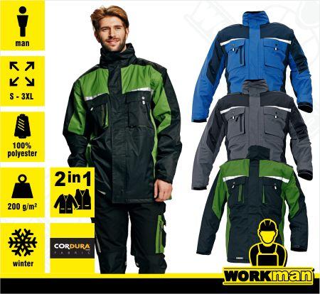 Zimná bunda ALLYN 2V1 Červa Pracovné odevy Workman 9846b83dccc