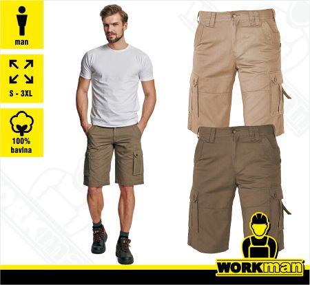 cae20a8daff0 Outdoorové šortky CHENA Crv Červa Pracovné odevy WORKMAN