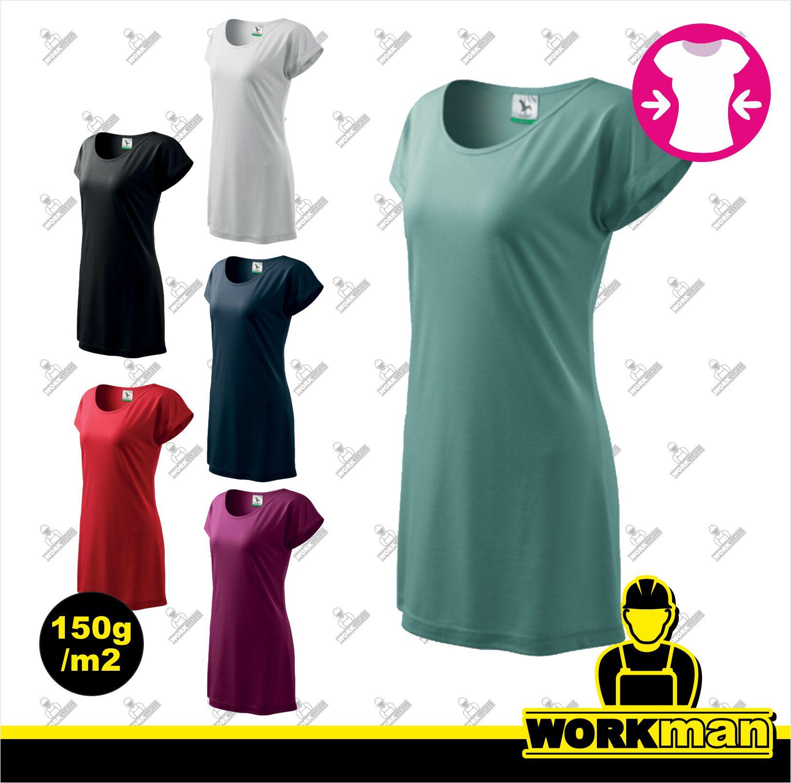 ff6b00c5a0 Tričko šaty dámske LOVE Adler Pracovné odevy WORKMAN