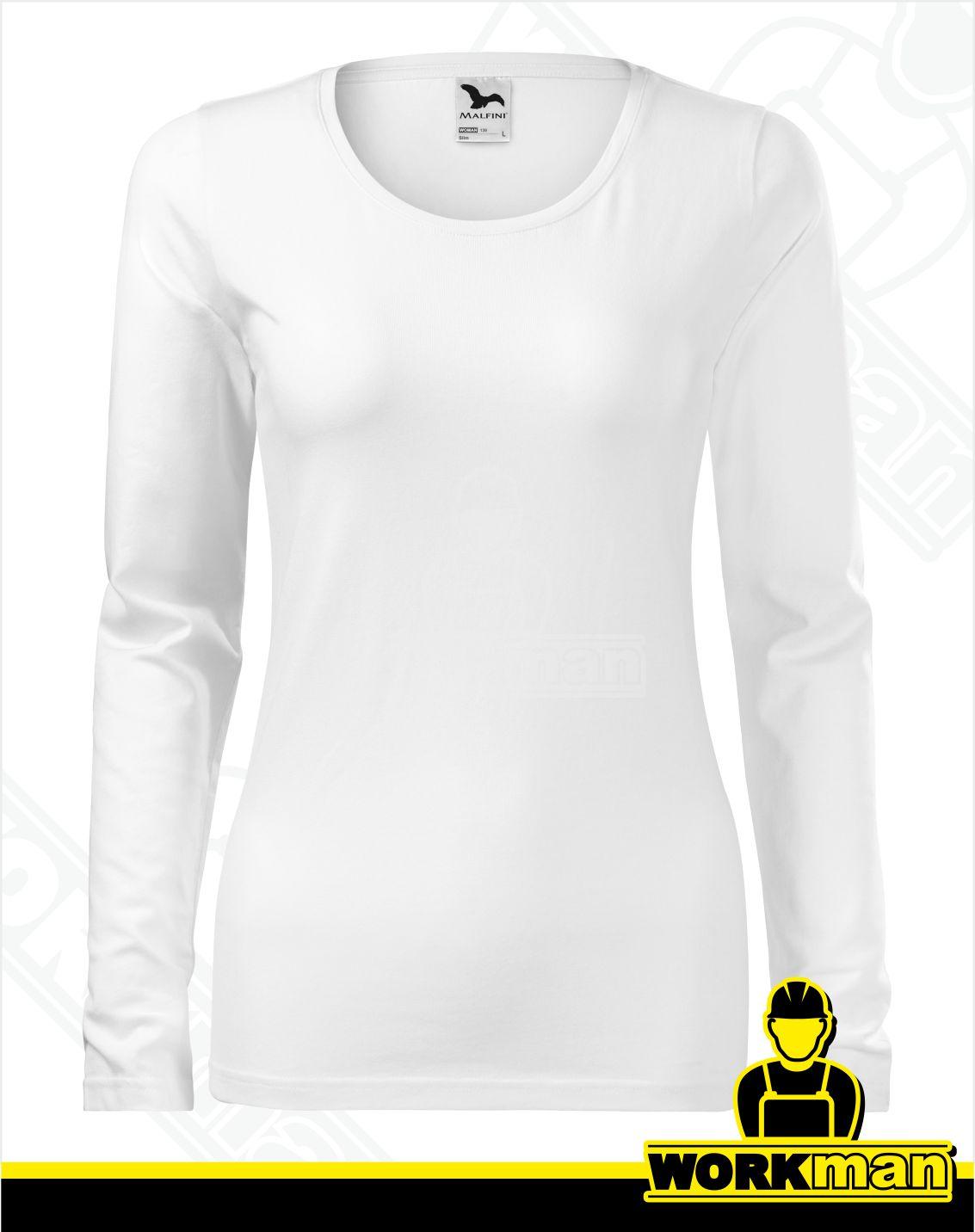 6771b2fd561a Dámske tričko SLIM Malfini biela Pracovné odevy WORKMAN