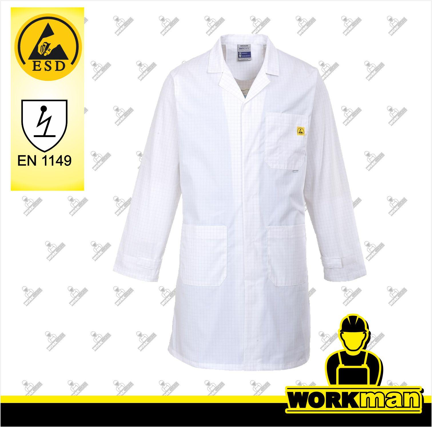 af7dfbbcafa9 Antistatický plášť ESD AS10 Červa Pracovné odevy WORKMAN