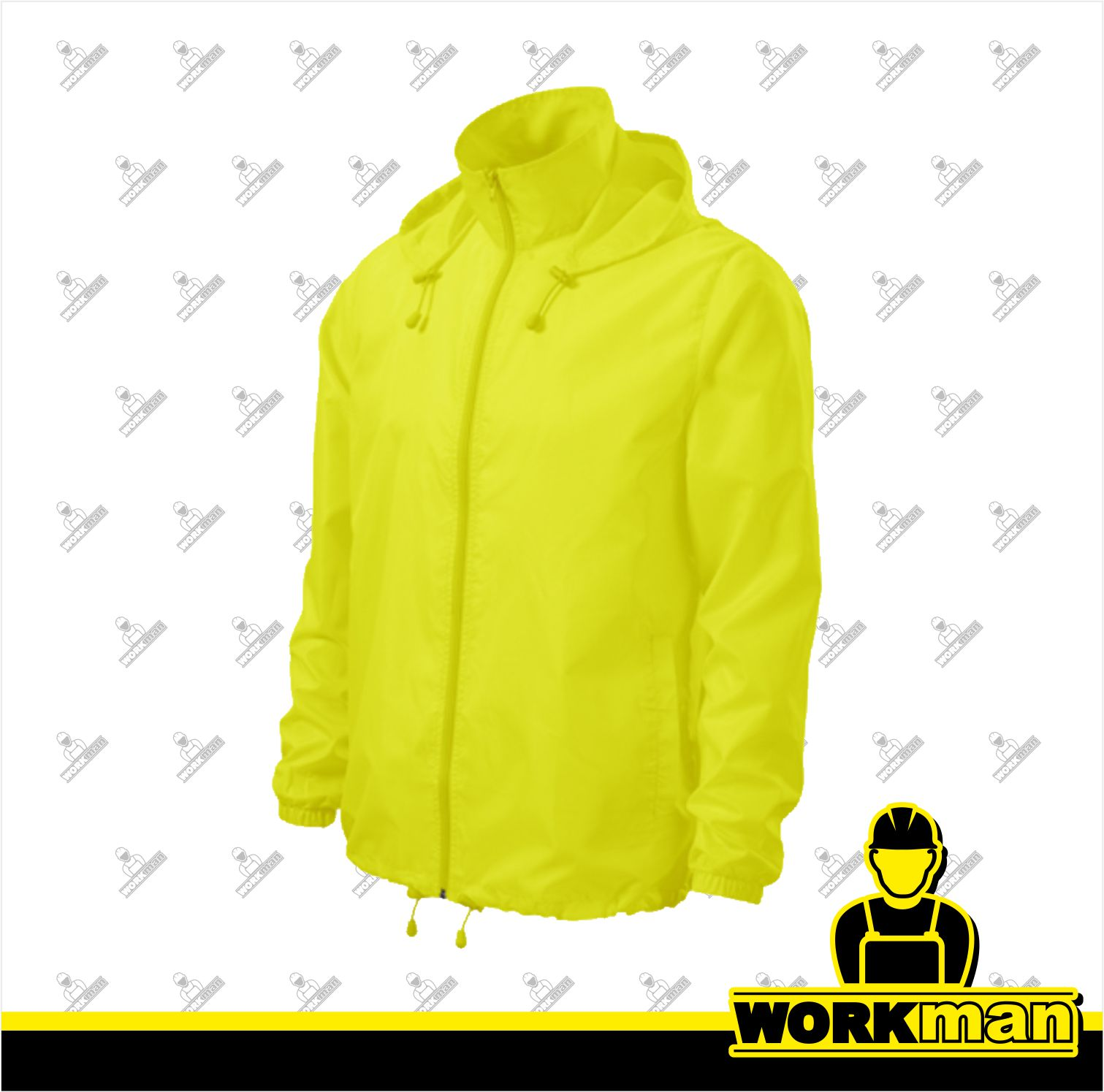 Nepremokavá vetrovka unisex WINDY Adler neon yellow WORKMAN bc4ab806c3d