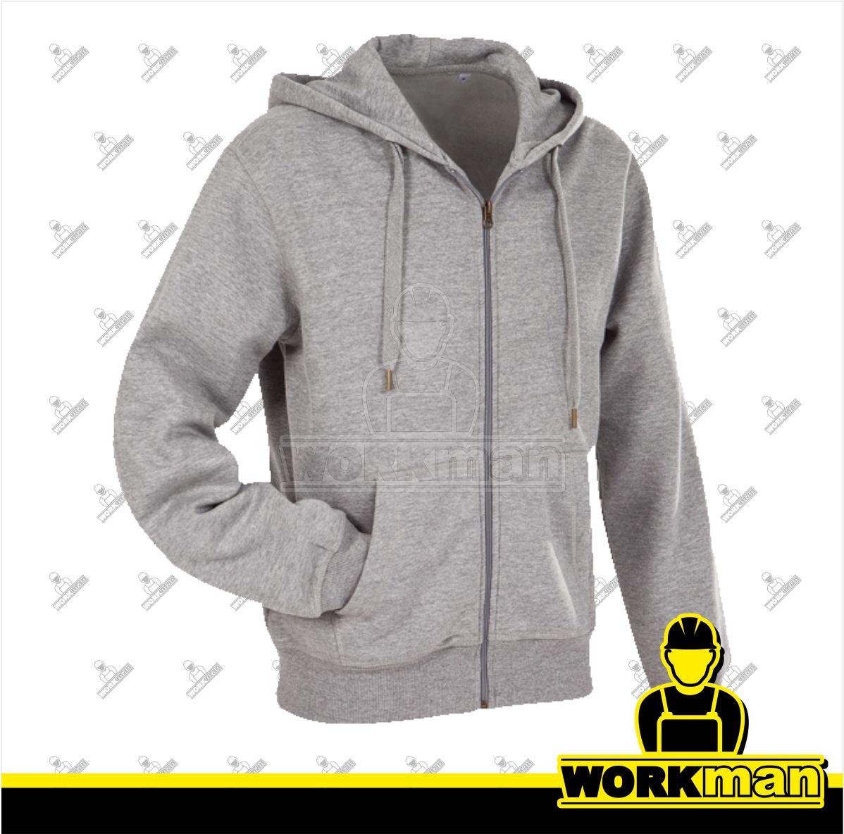 Pánska mikina s kapucňou a zipsom ACTIVE ST5610 Stedman Pracovné odevy b719a2c0edd