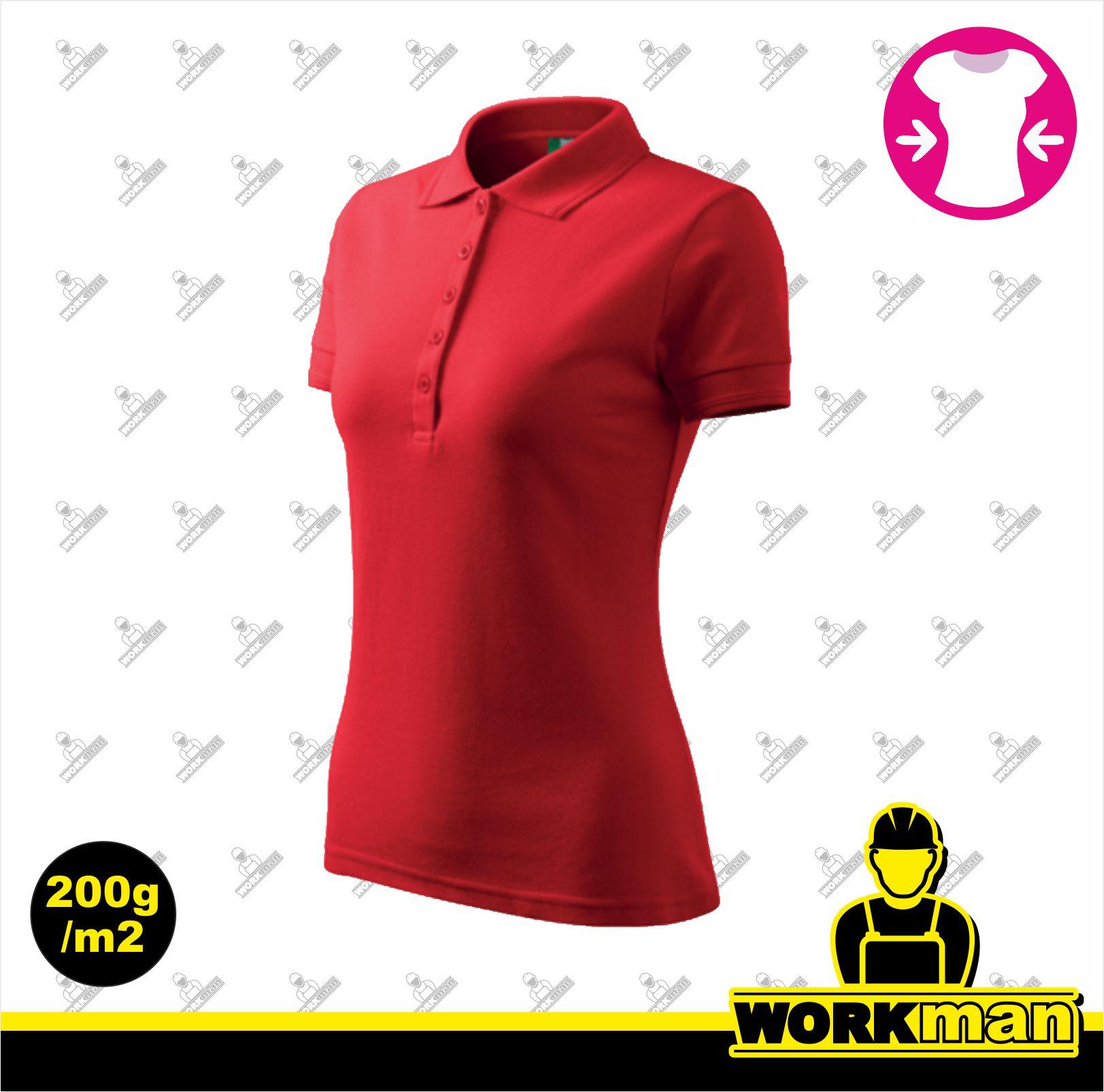 49461e1d6895 Polokošeľa dámska PIQUE POLO Adler červená Pracovné odevy WORKMAN