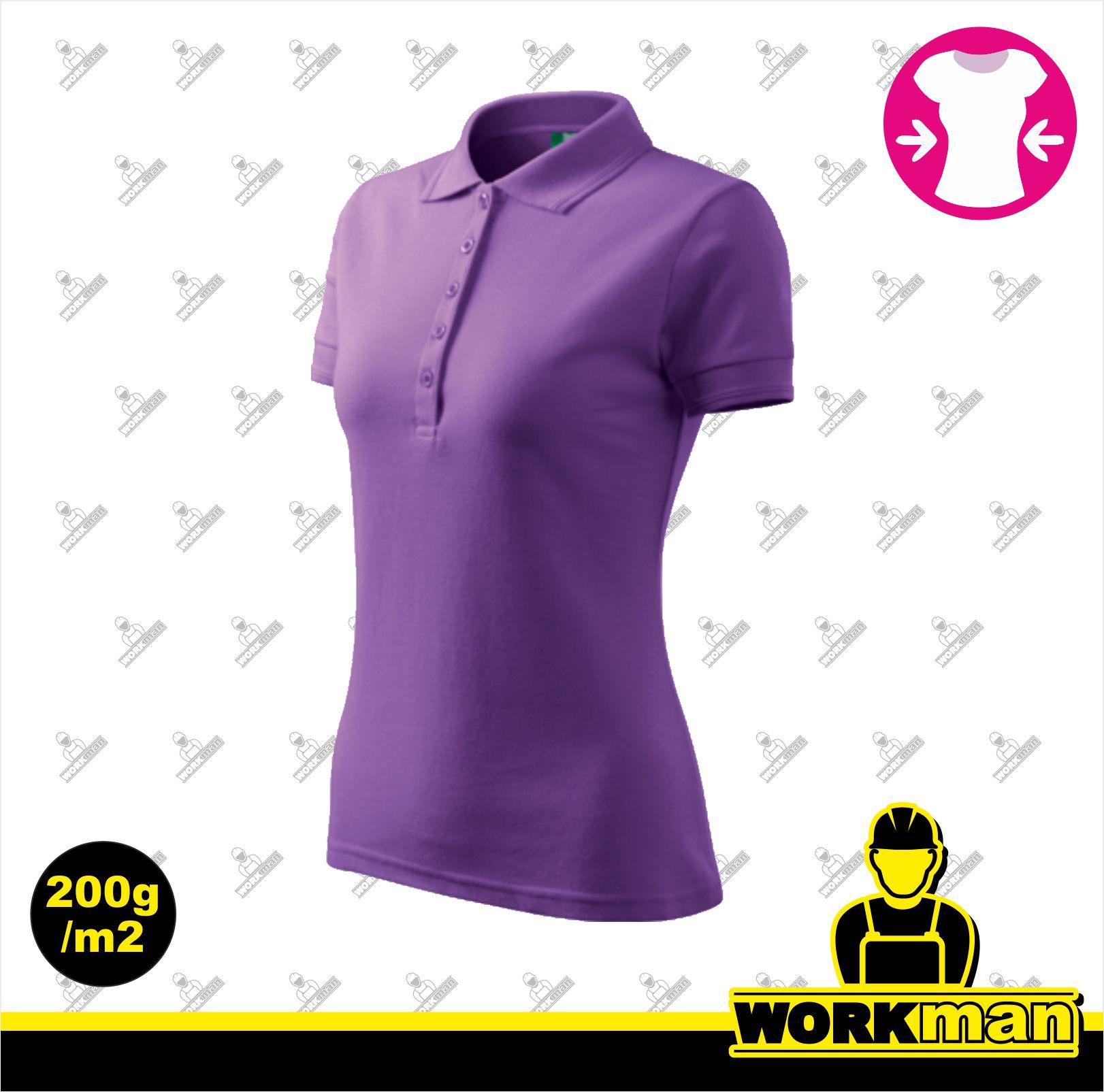 0c9c708d335d Polokošeľa dámska PIQUE POLO Adler fialová Pracovné odevy WORKMAN