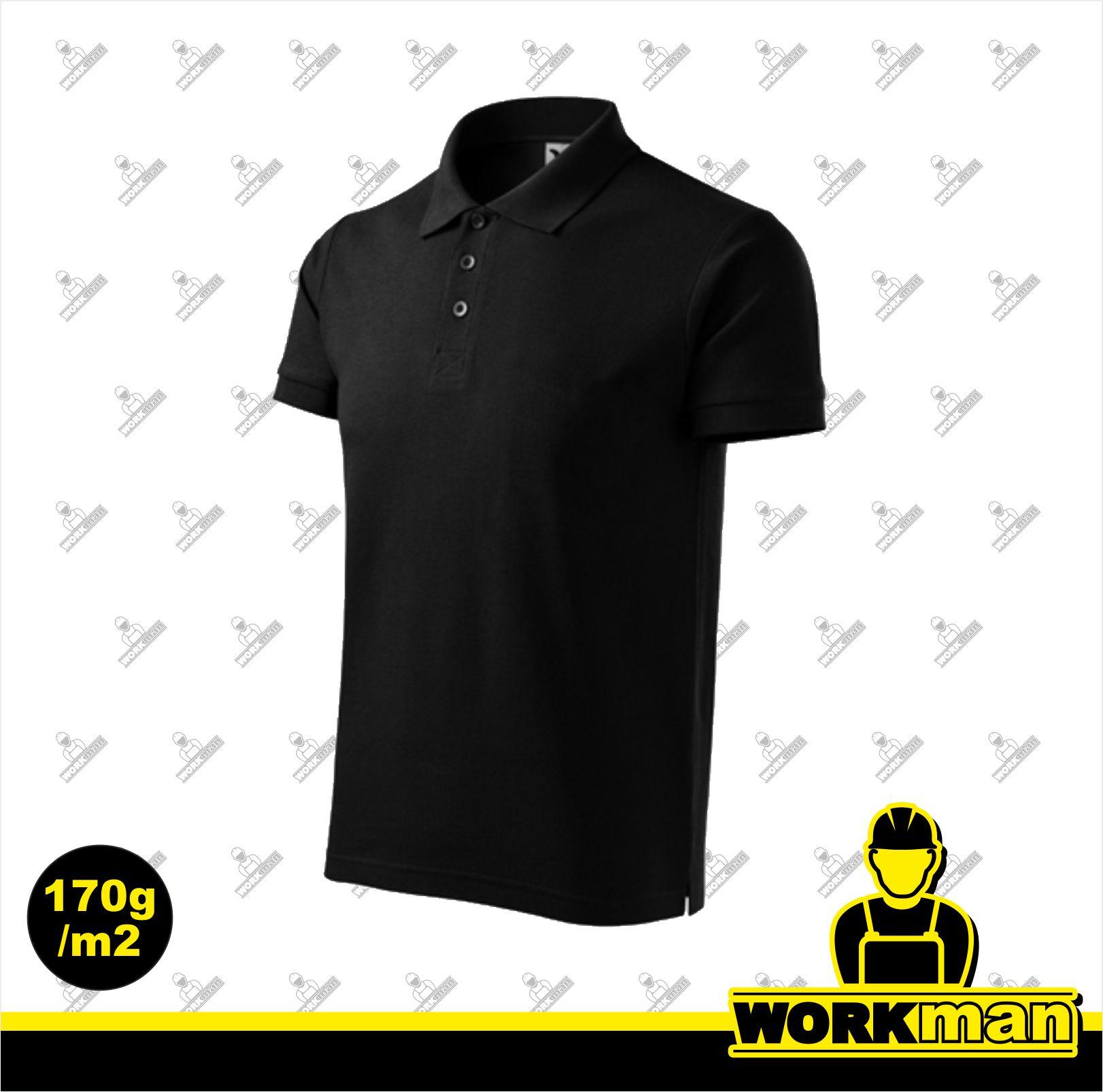488ed5127fb0 Polokošeľa pánska COTTON Adler čierna Pracovné odevy Workman