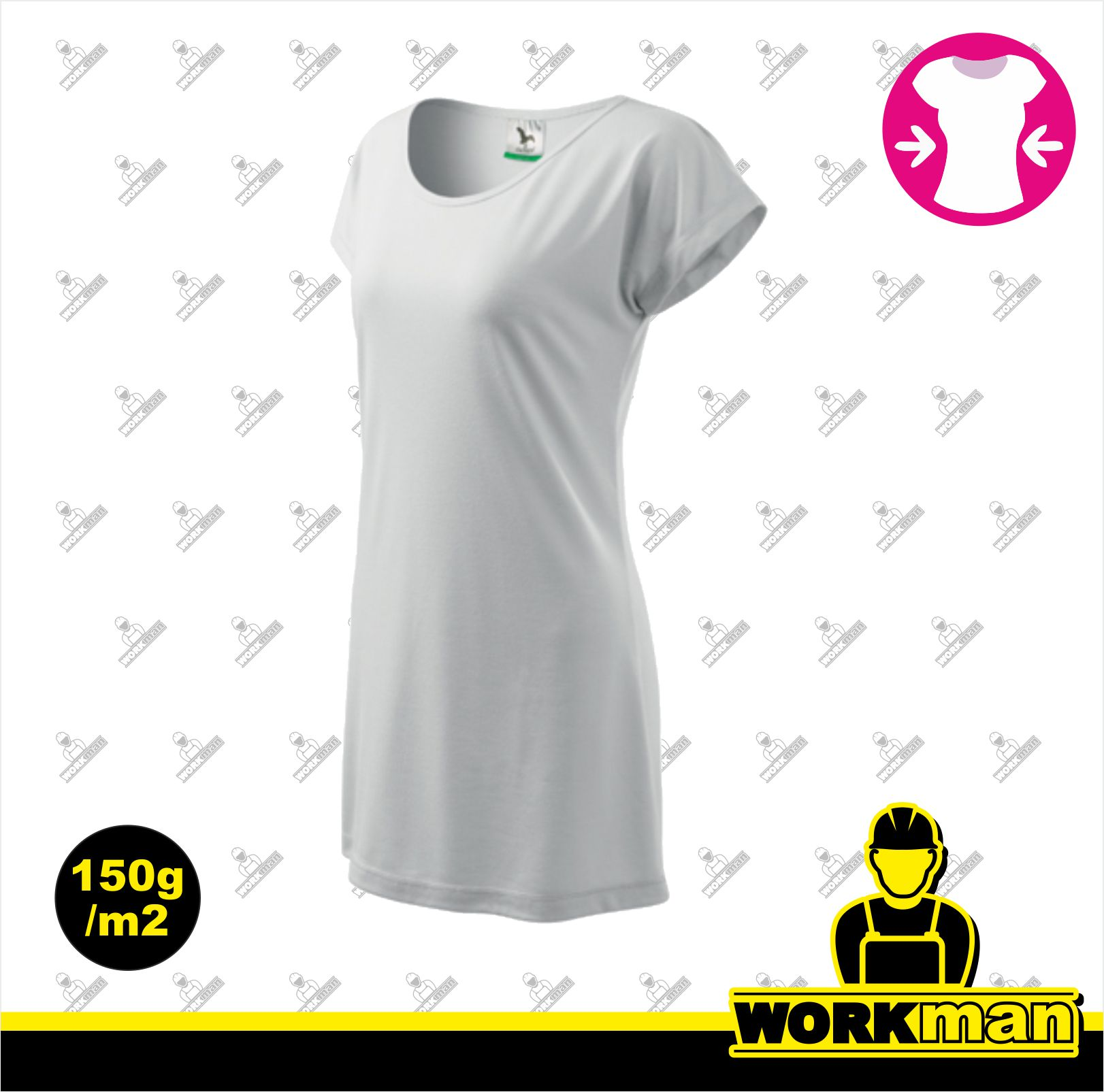 f6c65100125c Tričko šaty dámske LOVE Adler biela Pracovné odevy WORKMAN