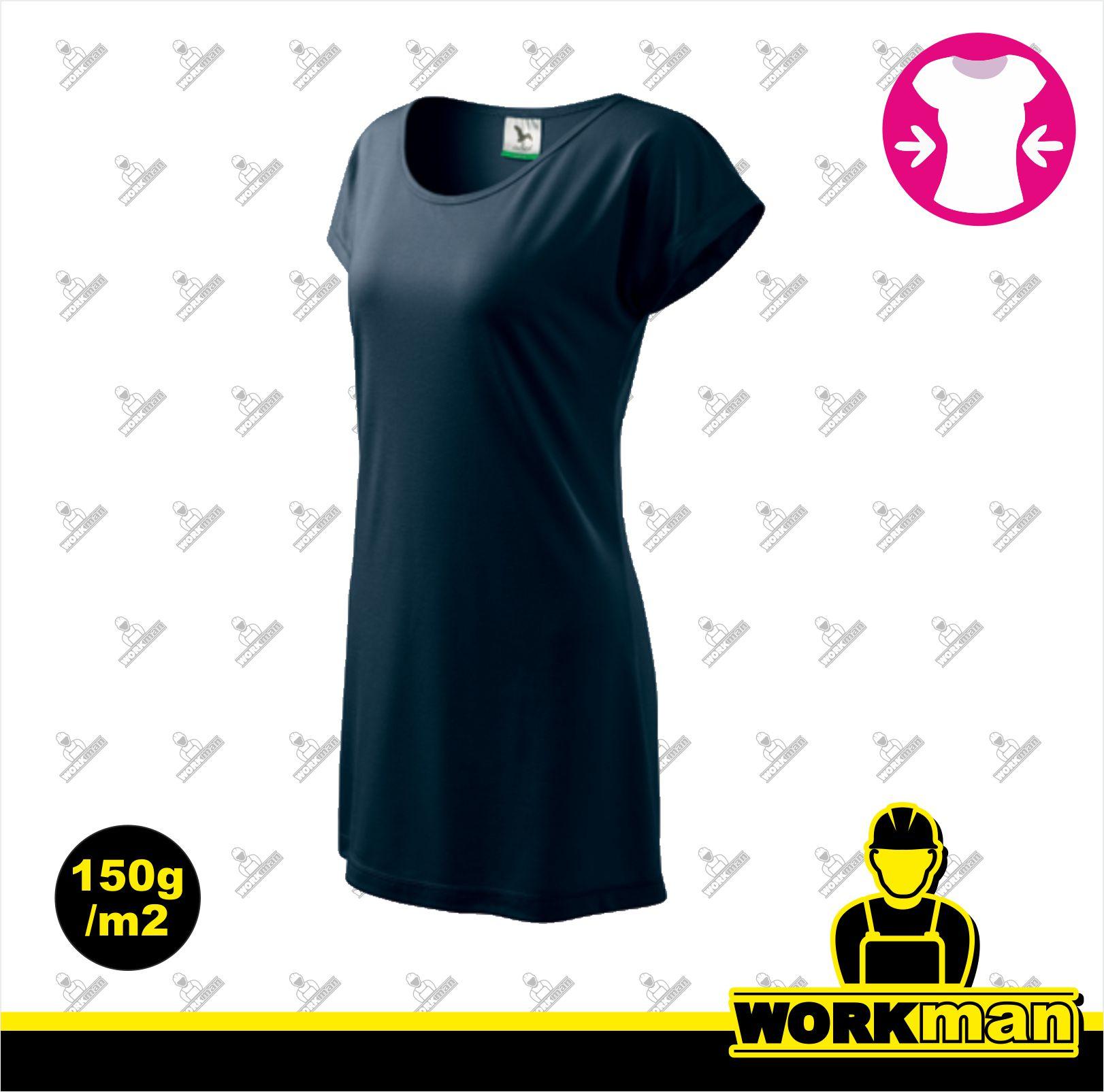 5765b7298ed9 Tričko šaty dámske LOVE Adler tmavomodrá Pracovné odevy WORKMAN