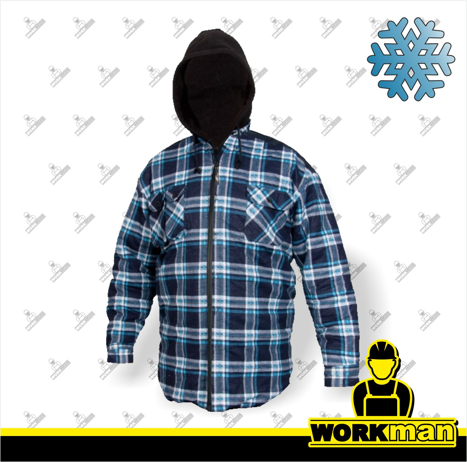 34817c9984e8 Zateplená flanelová bunda TOM WINTER Canis Pracovné odevy WORKMAN