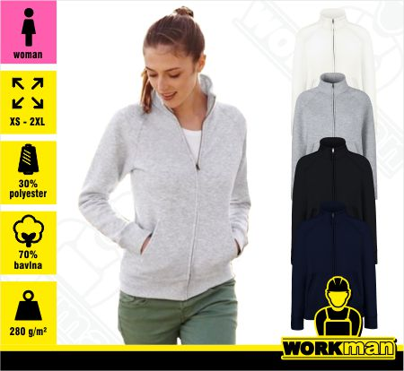 Dámská mikina LADY-FIT PREMIUM SWEAT JACKET Fruit of the Loom