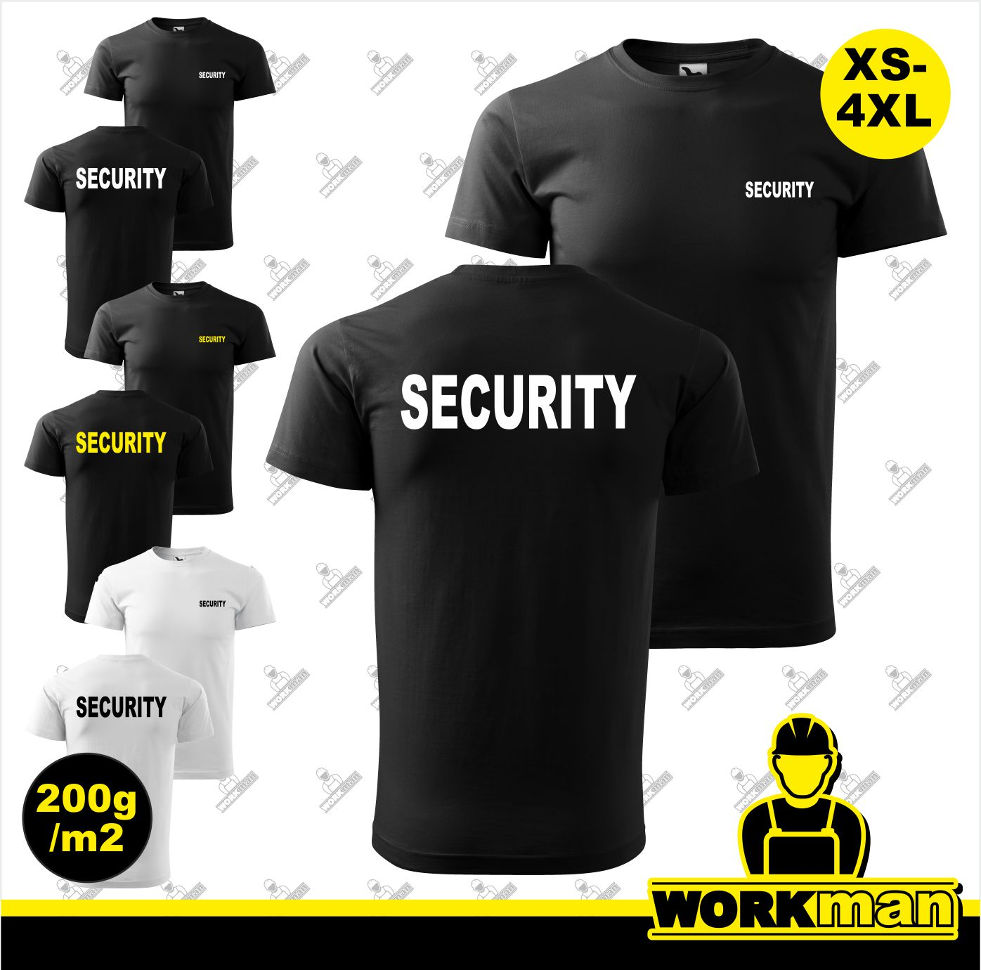 Tričko SECURITY 200g