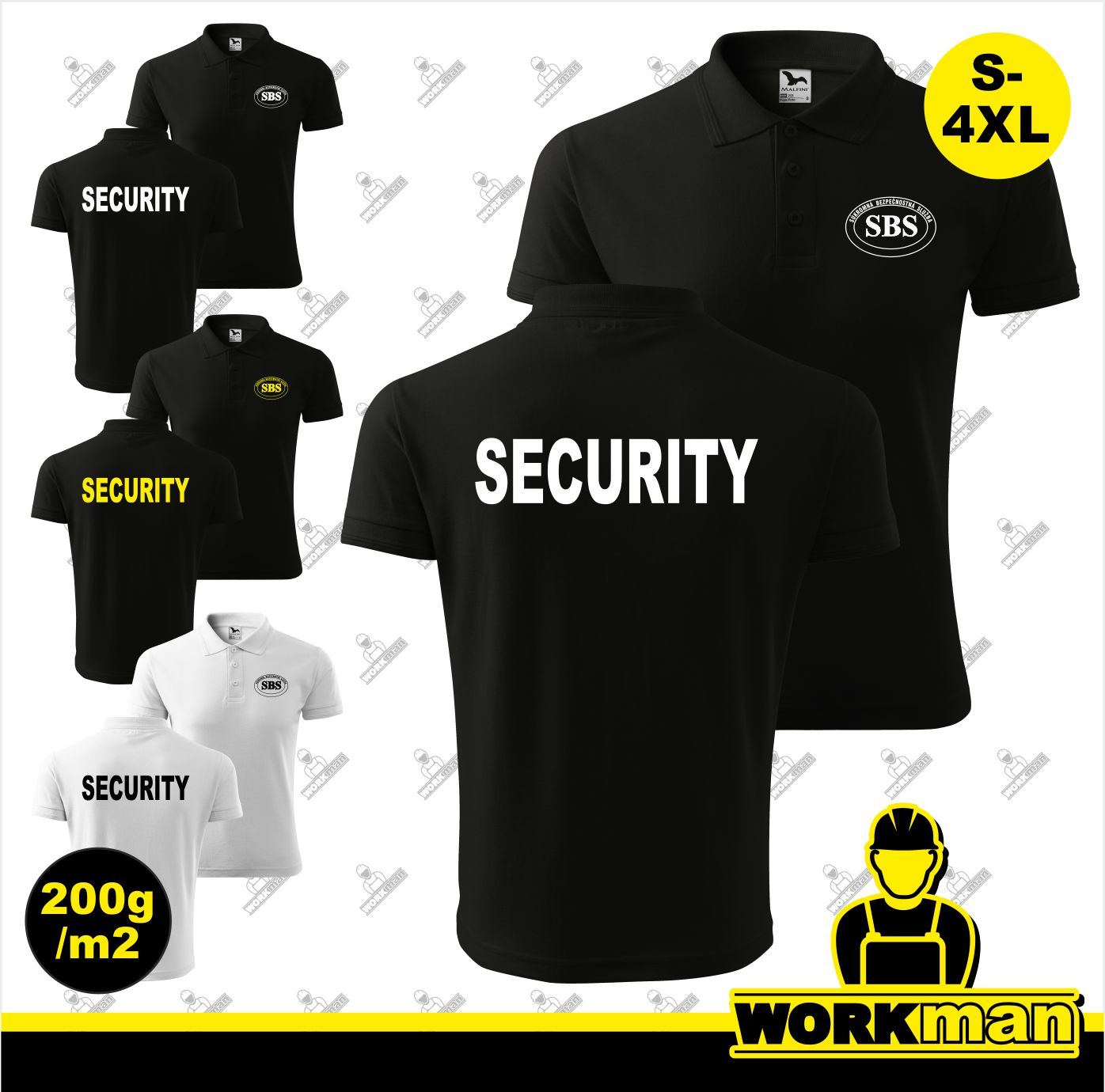 Polokošeľa SBS-SECURITY PIQUE POLO 200g