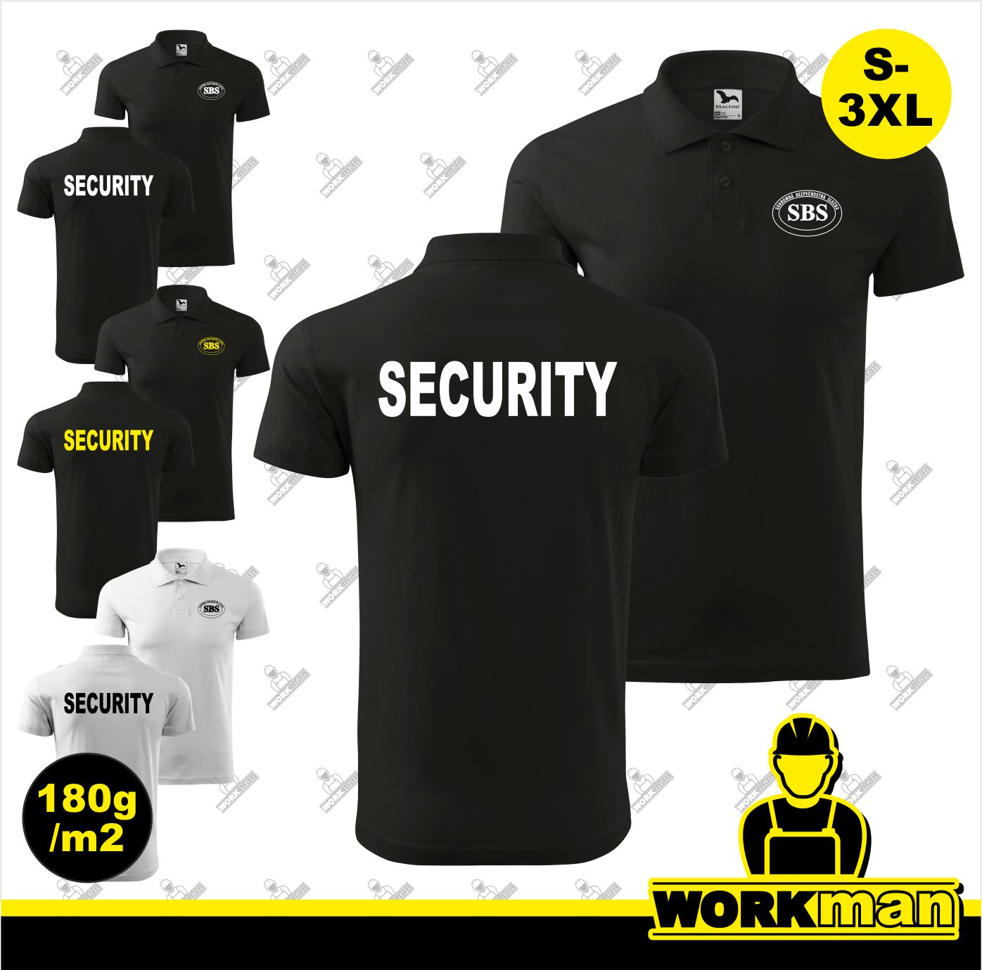 Polokošeľa SBS-SECURITY 180g
