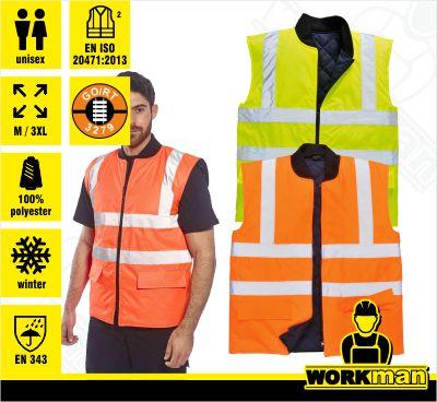 Zateplená reflexná obojstranná vesta S469 Portwest