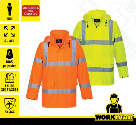 Reflexná bunda Hi-vis LITE TRAFFIC S160 Portwest .