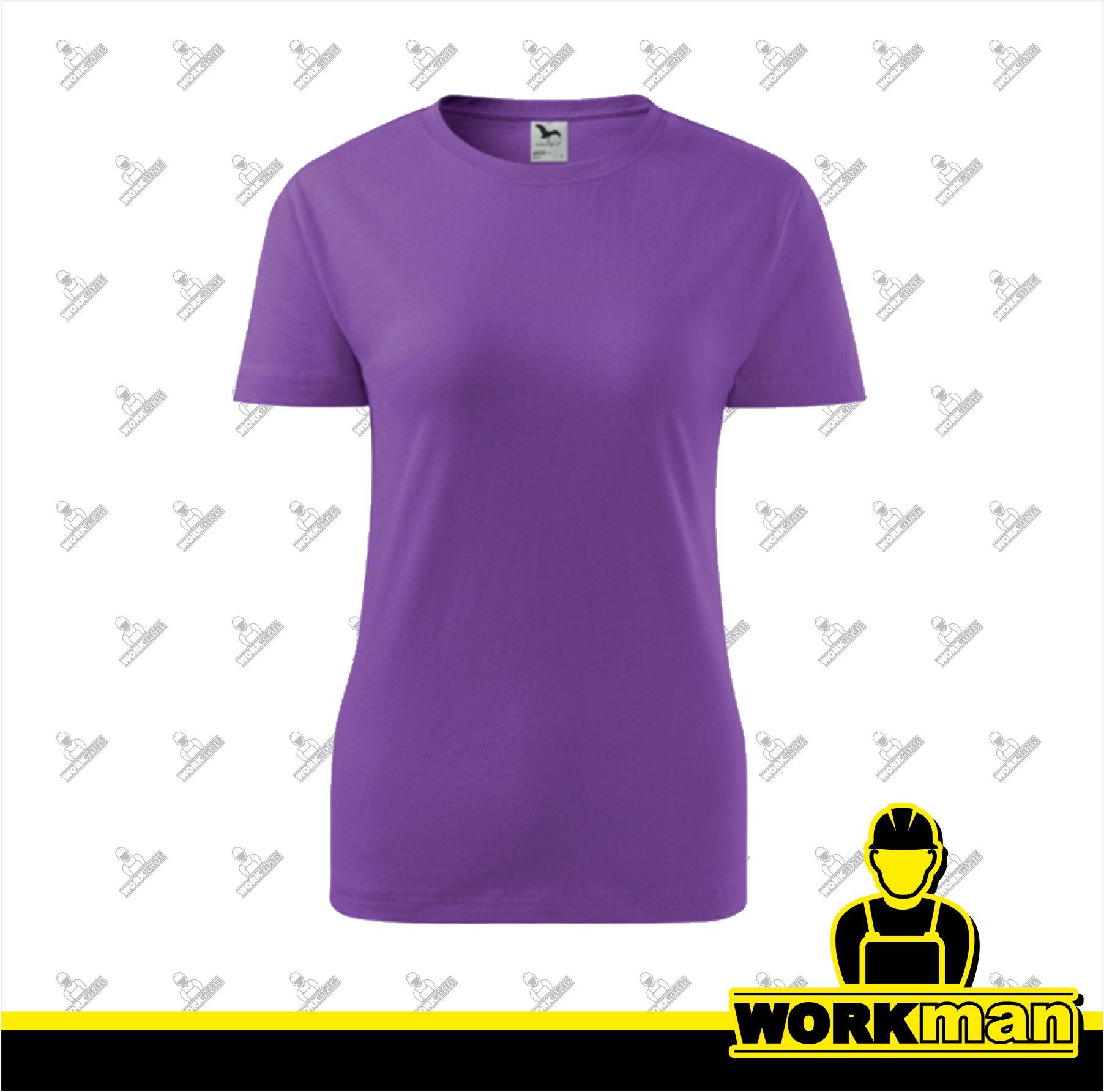 f27b28b0a148 Tričko dámske BASIC 160 Adler fialová Pracovné odevy Workman