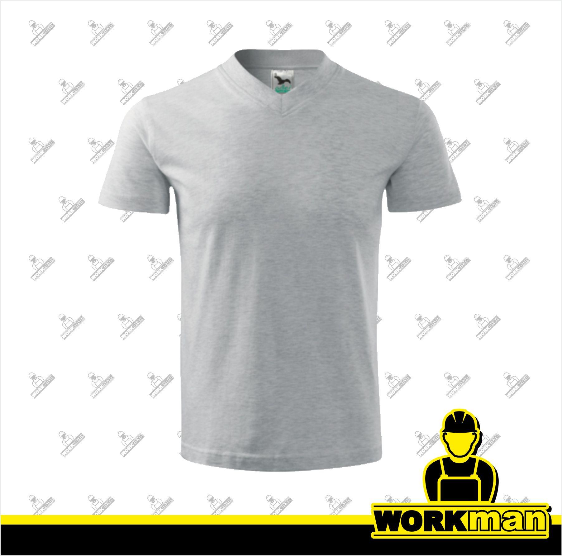 378f2d94377 Tričko pánske V-NECK 160 Adler svetlosivý melír Pracovné odevy Workman