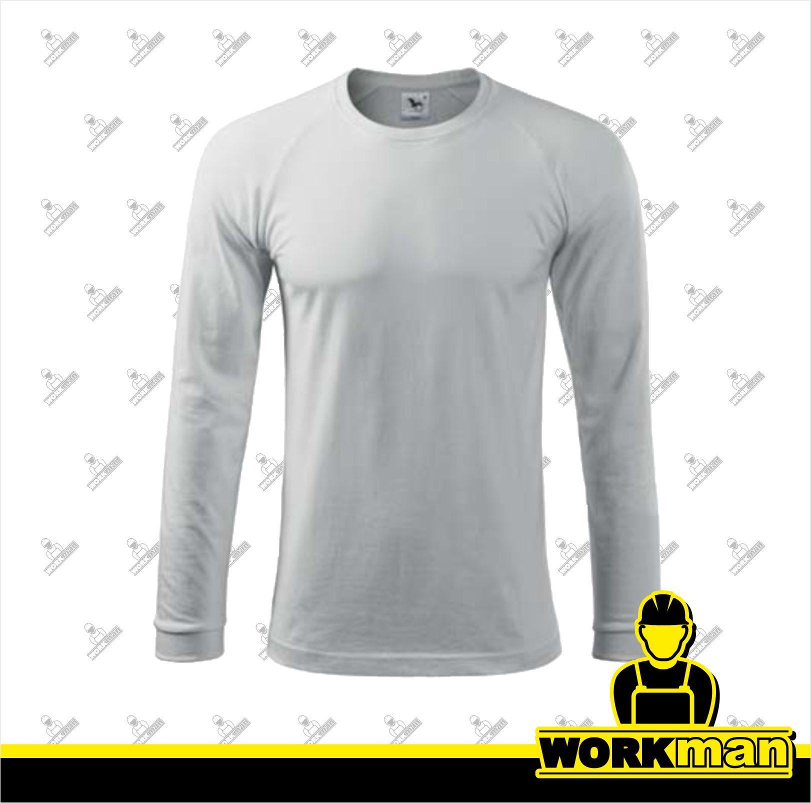 Tričko pánske STREET LS Adler biela Pracovné odevy WORKMAN 2ca7ca33a9e