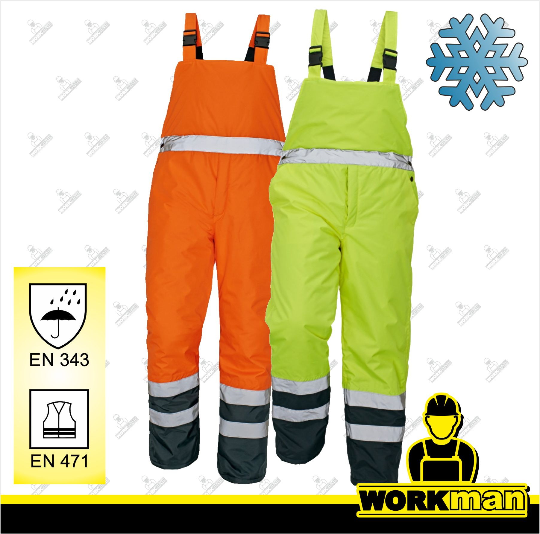Reflexné zateplené nohavice PADSTOW HV ČERVA Pracovné odevy WORKMAN cb12d448d19
