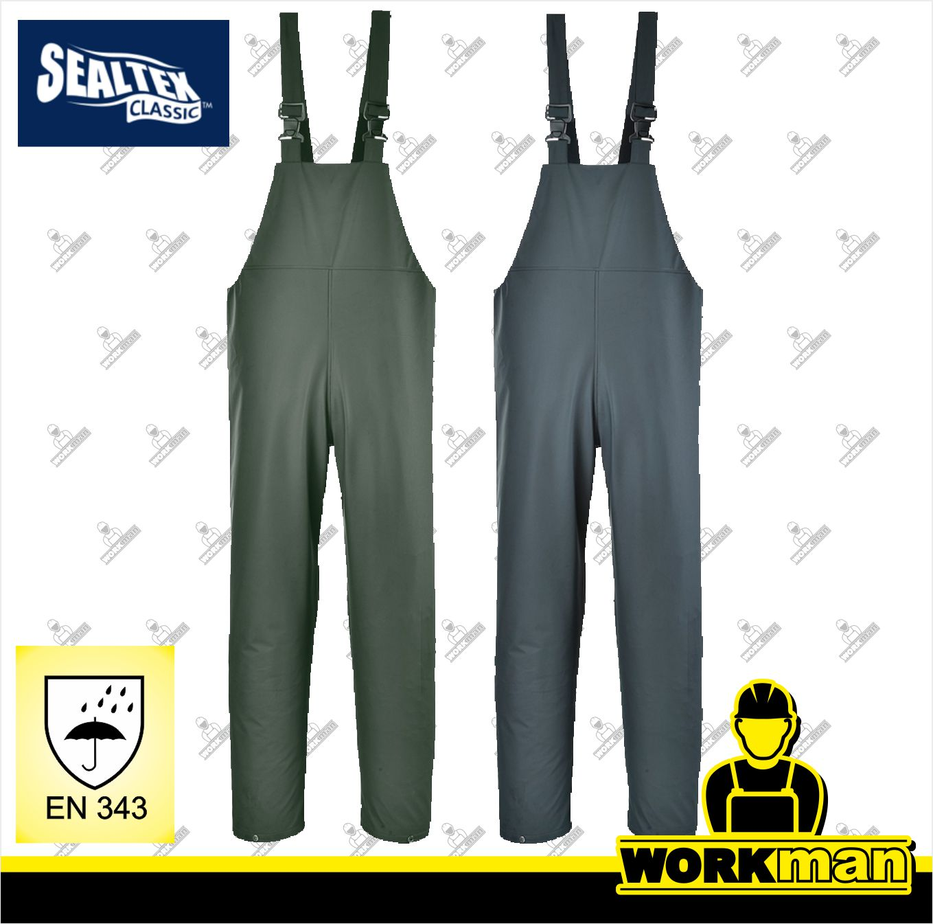 c307d2c6597a Nepremokavé nohavice s453 SEALTEX s náprsenkou Portwest Pracovné odevy